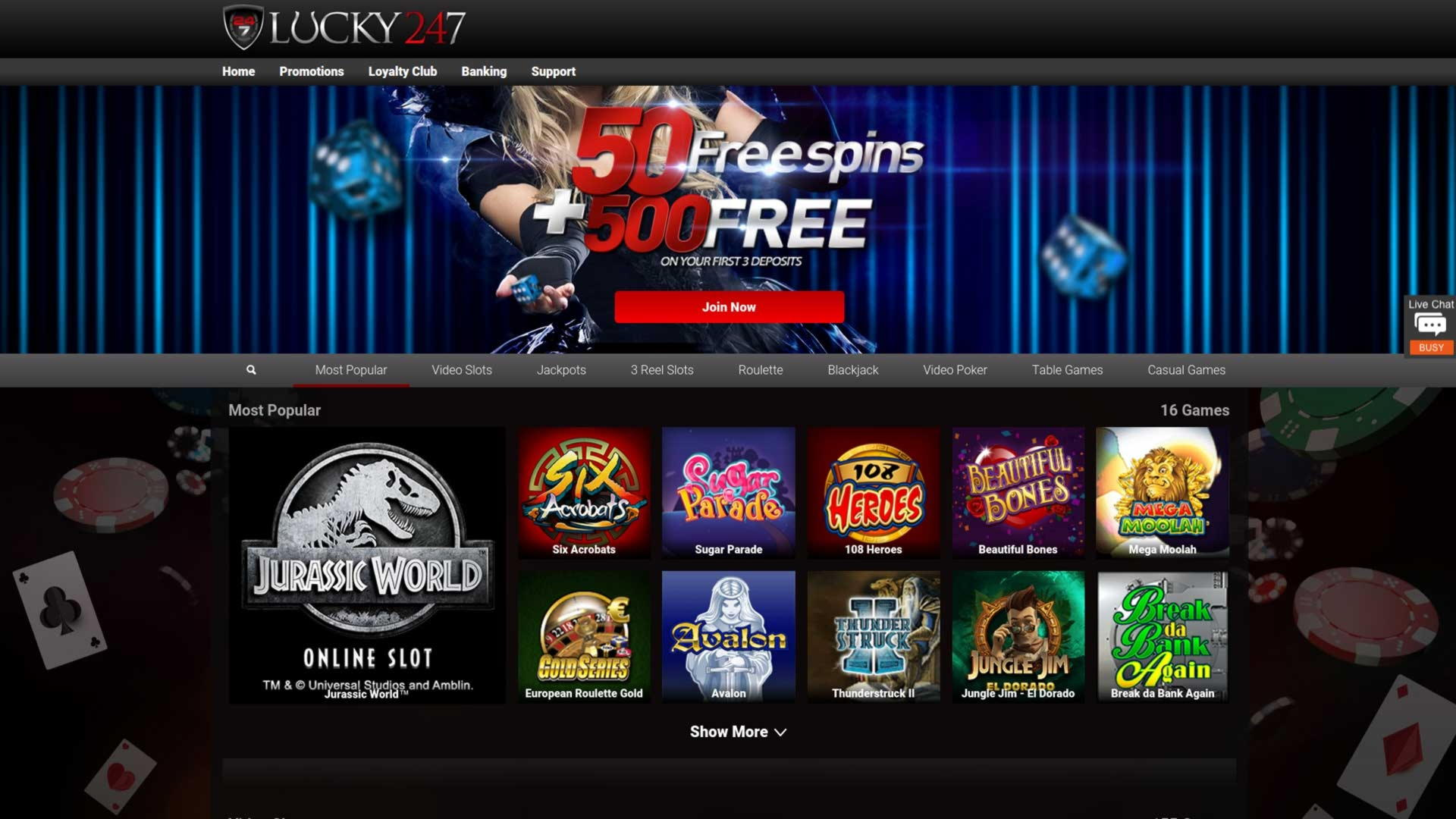 $2040 no deposit bonus at Raging Bull Casino